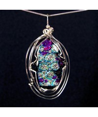 Dichroic Glass Wire Wrap