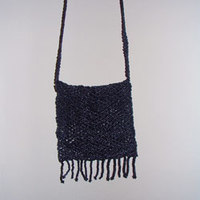 Beaded Purse with Fringe