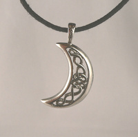 Celtic Moon Celestial Pewter Pendant