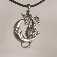 Midnight Dragon Celestial Pewter Pendant