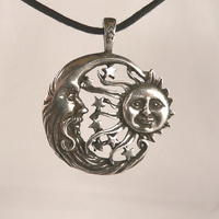 Windblown Celestial Pewter Pendant