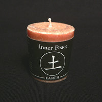 Earth (Inner Peace) Feng Shui Palm Wax Votive Candle