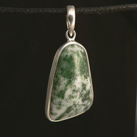 Tree Agate Sterling Silver Pendant