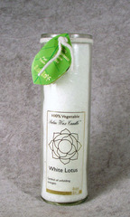 White Lotus Palm Wax Unscented Chakra Candle