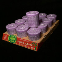 Unscented Organic Violet Palm Wax Votive Candle (Fragrance Free)