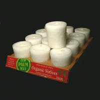 Unscented Organic White Palm Wax Votive Candle (Fragrance Free)