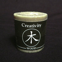 Wood (Creativity) Feng Shui Palm Wax Votive Candle